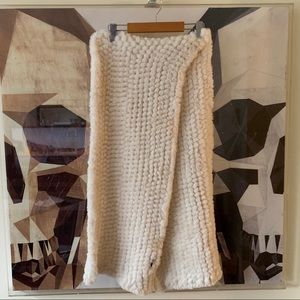 Faux fur cream soft large scarf